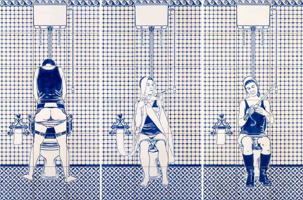 Dana Widawski · Artist's Rest · Unterglasurmalerei · 2014