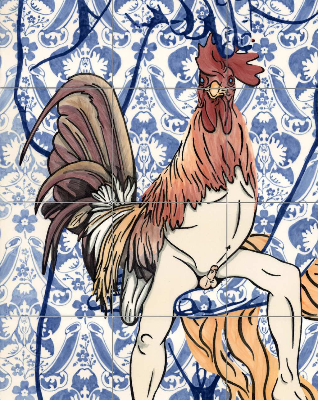 Dana Widawski · Venus and her magnificent cock  · 2017 · Hybrid creatures Nr. 4 · detail
