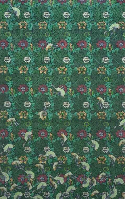 Dana Widawski · Dying Birds · 2015 · Schablonenmalerei · ·  Acryl auf Papier · 70 x 110 cm