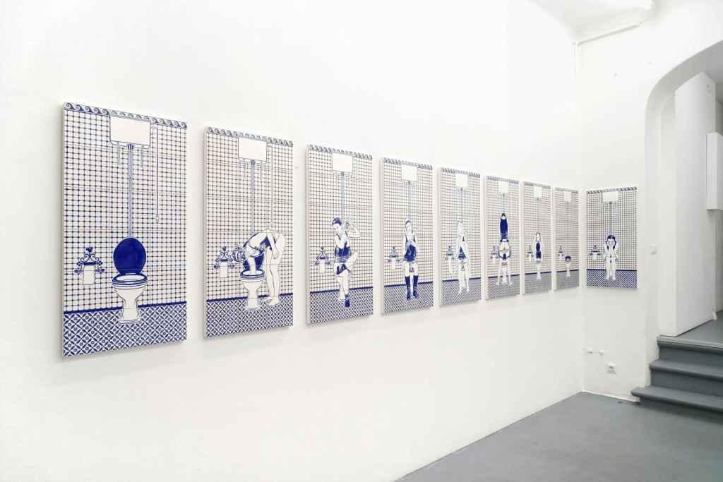 Dana Widawski · Artist's Rest · underglaze painting · 2014