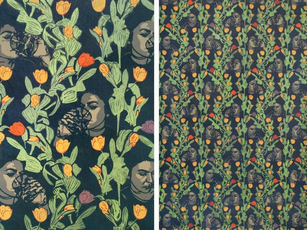 Dana Widawski · Happy Birthday · 2004/2008 · Schablonenmalerei · 100 x 150 cm