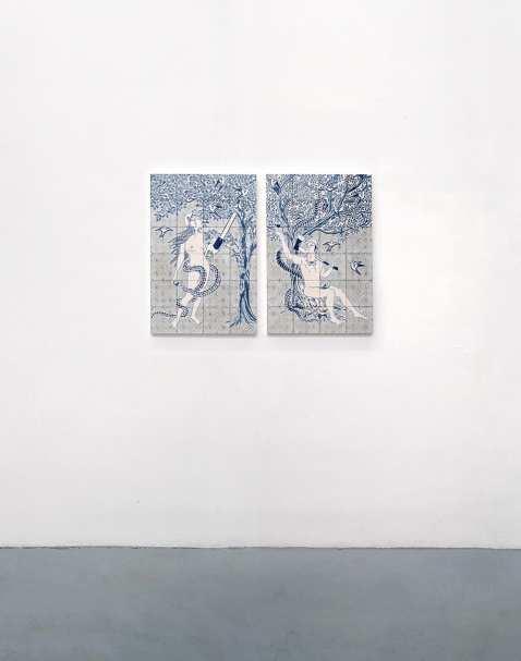 Dana Widawski · Blaupause · Ausstellung Galerie Gilla Lörcher Berlin · 2014